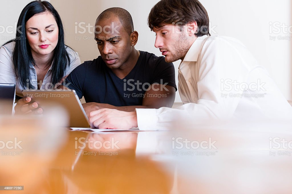 Reviewed financial results stock photo