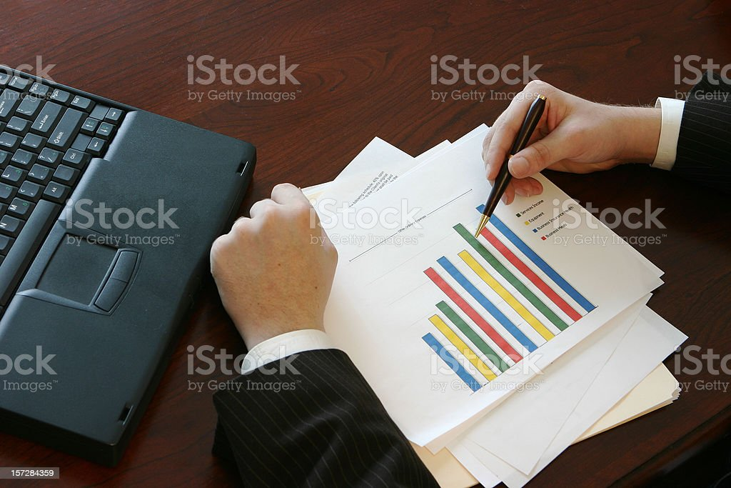 Reviewing Growth Chart royalty-free stock photo