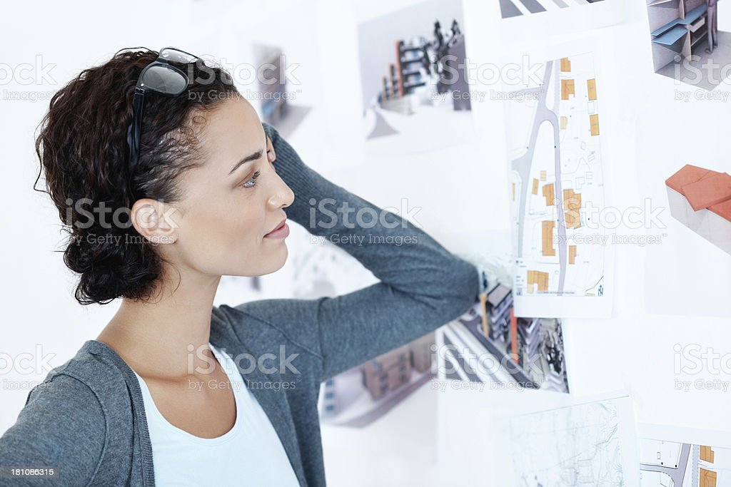Reviewing the layout and thinking it over royalty-free stock photo