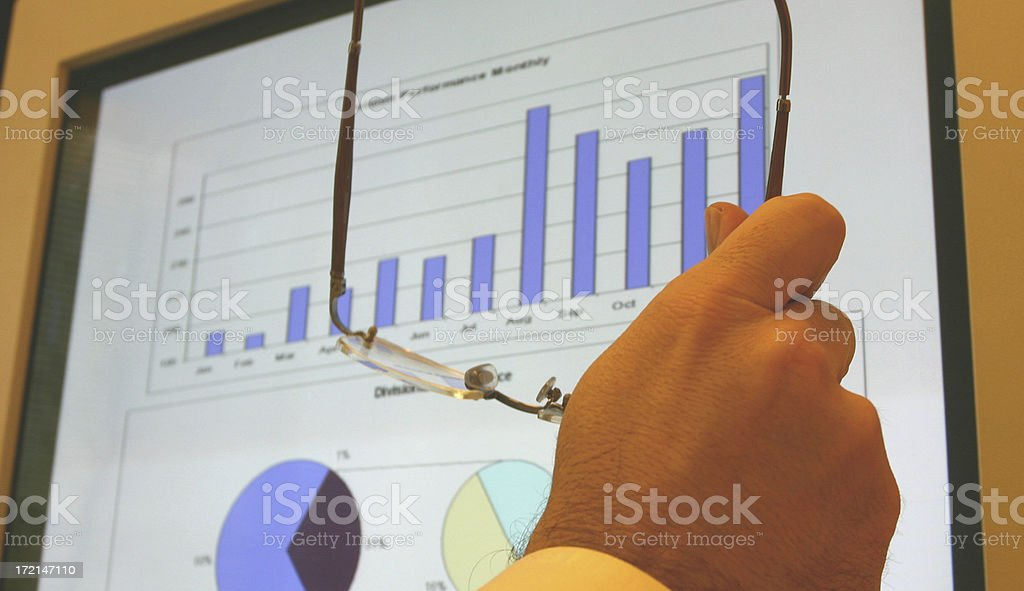 Reviewing the Results royalty-free stock photo