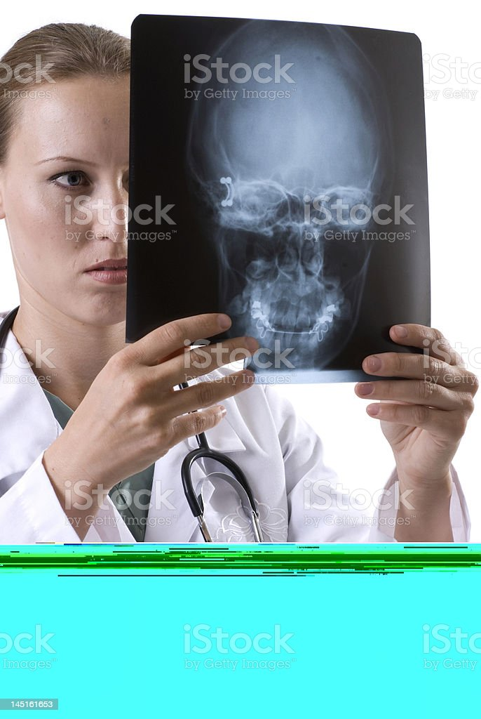 Reviewing the X-Ray royalty-free stock photo