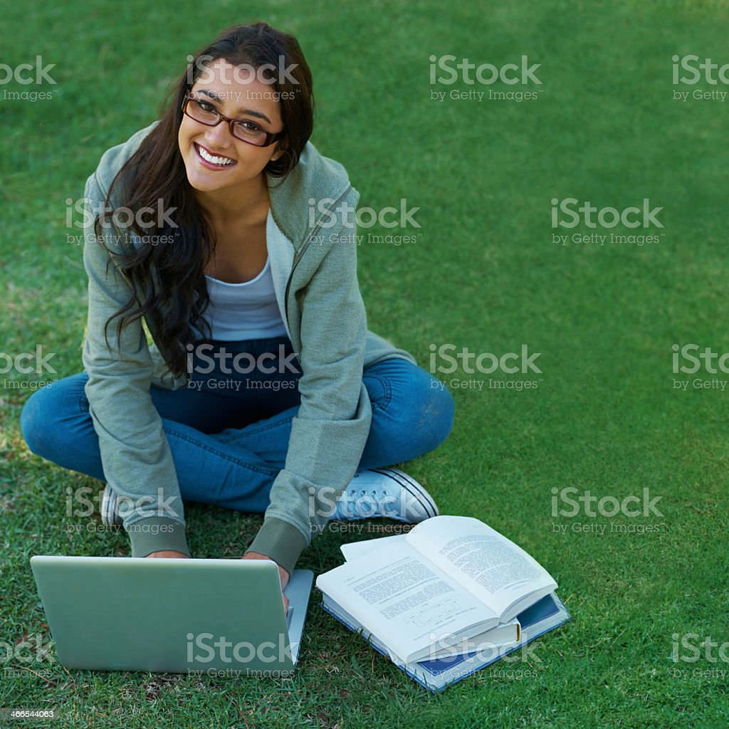 Revision in the fresh air royalty-free stock photo