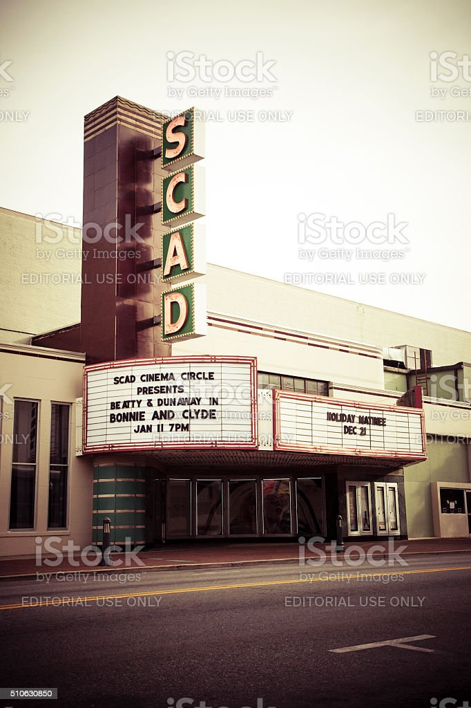 SCAD Revival Theater, Savannah stock photo