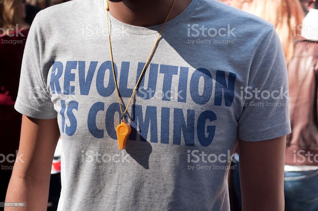 Revolution is coming stock photo