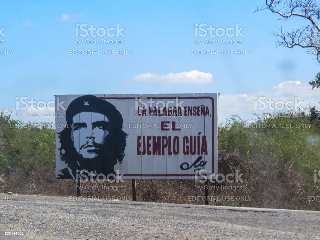 Revolution sign in Cuba stock photo