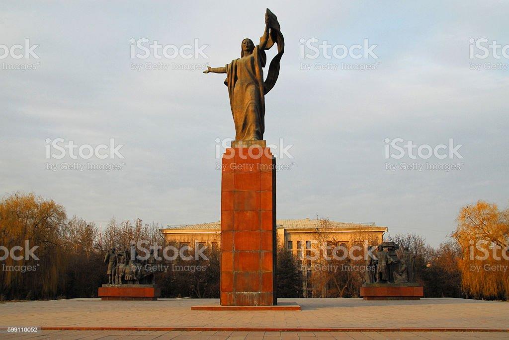 Revolution Square, Bishkek, Kyrgyzstan stock photo