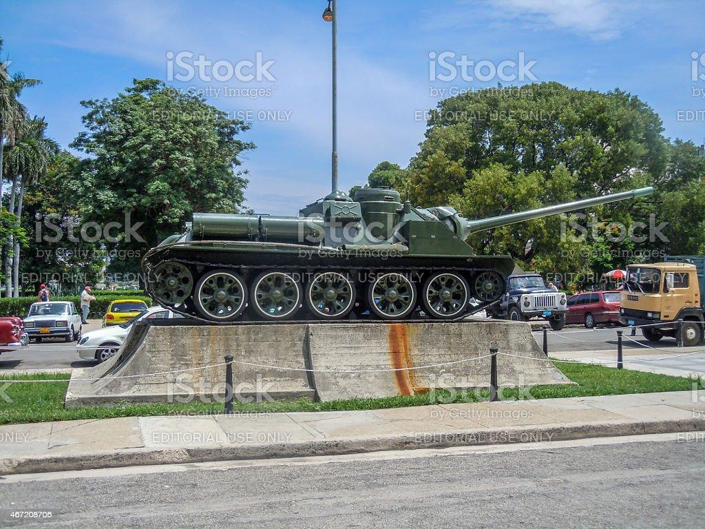 Revolution Tank Memorial, Havana stock photo