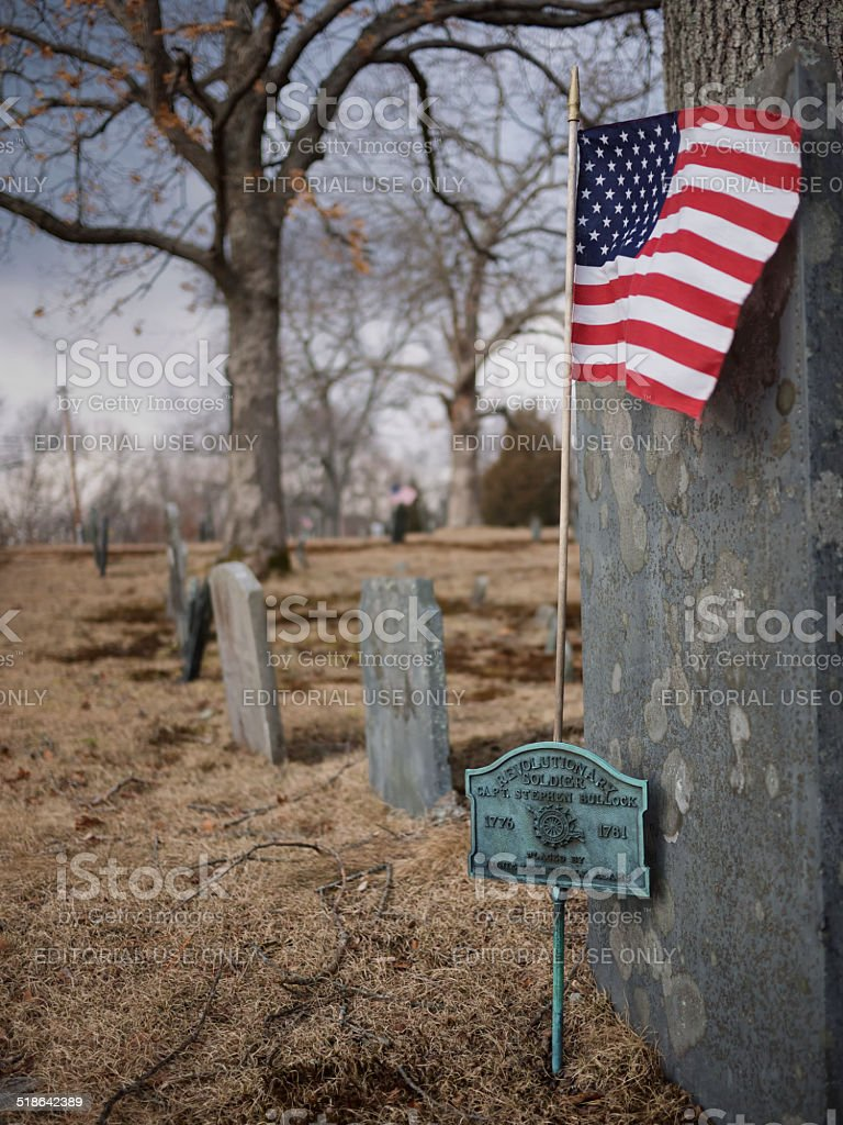 Revolutionary Soldiers Grave. Rehoboth Ma stock photo