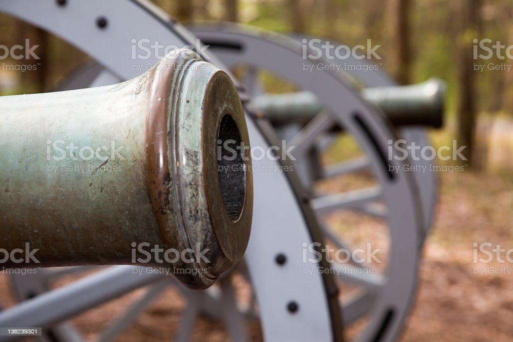 Revolutionary War Cannon stock photo