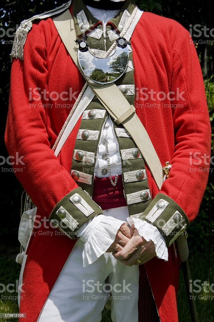 Revolutionary War -- Loyalist Officers Uniform royalty-free stock photo