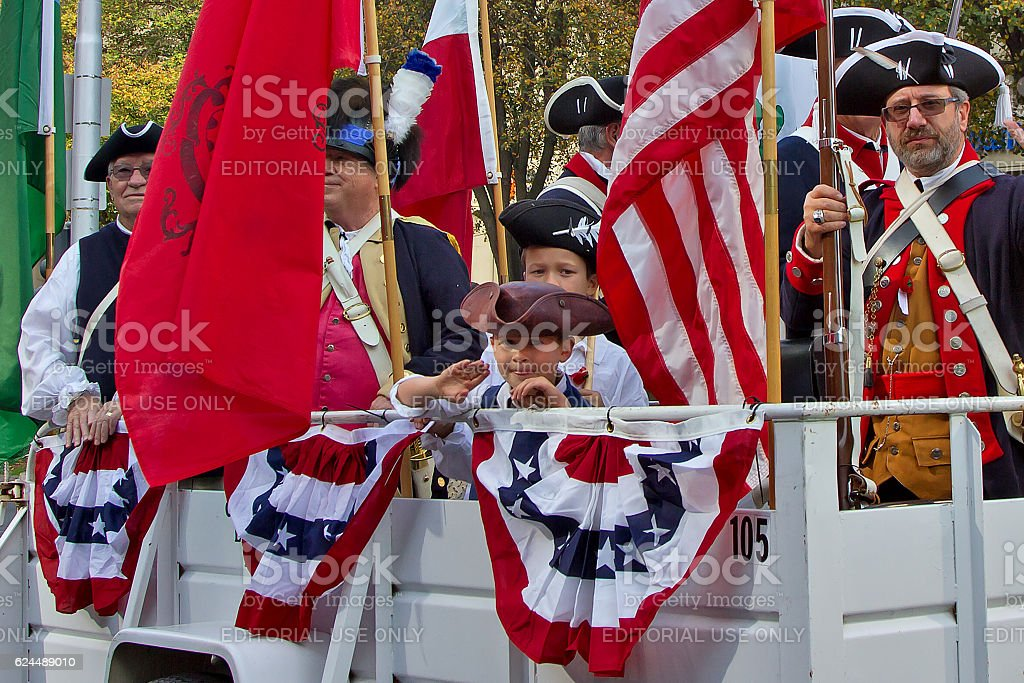 Revolutionary War Patriot Float royalty-free stock photo