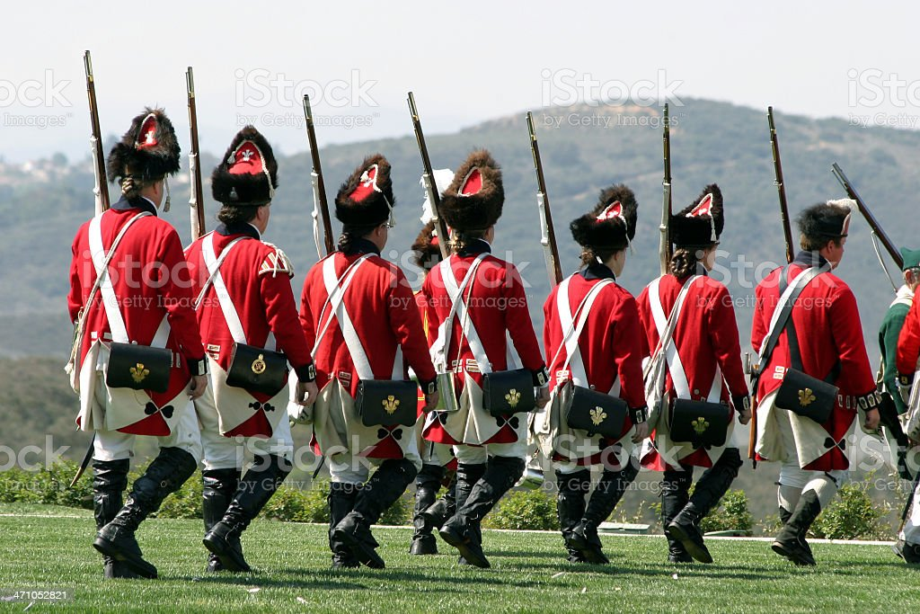 Revolutionary War (18th century) stock photo