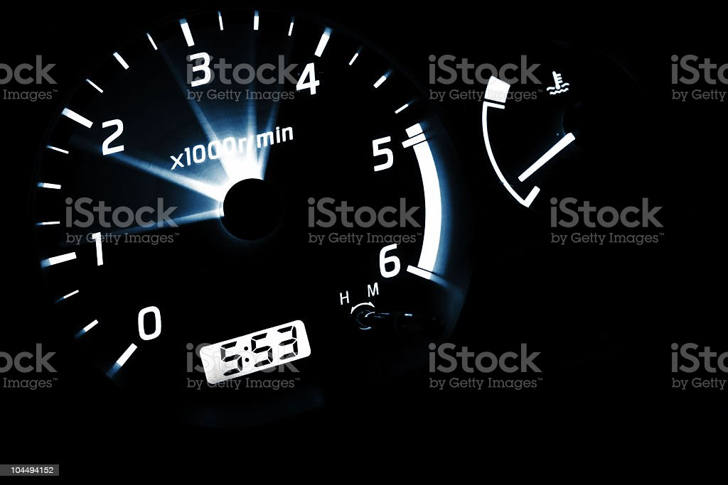 revolutions in the car royalty-free stock photo