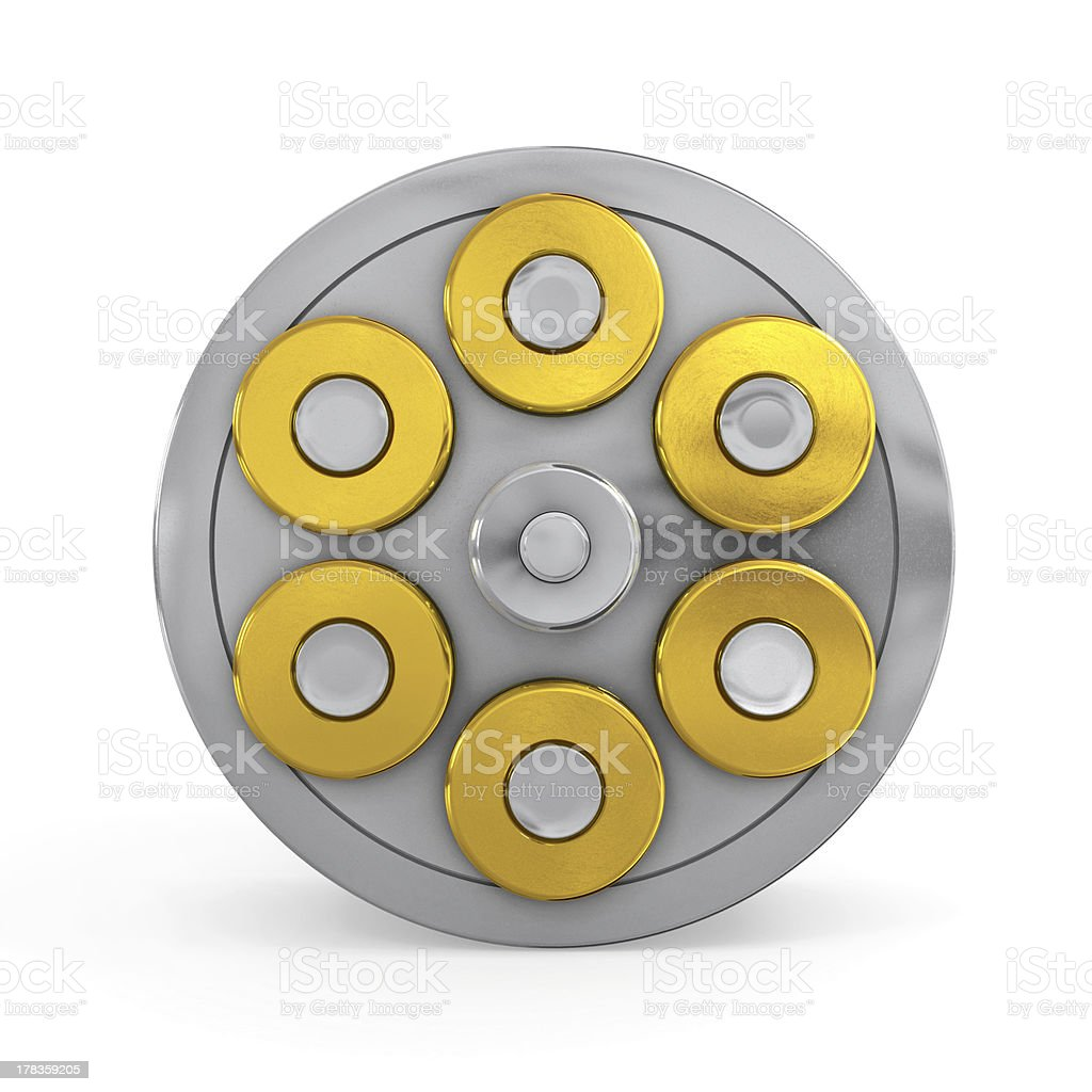 Revolver Cylinder royalty-free stock photo