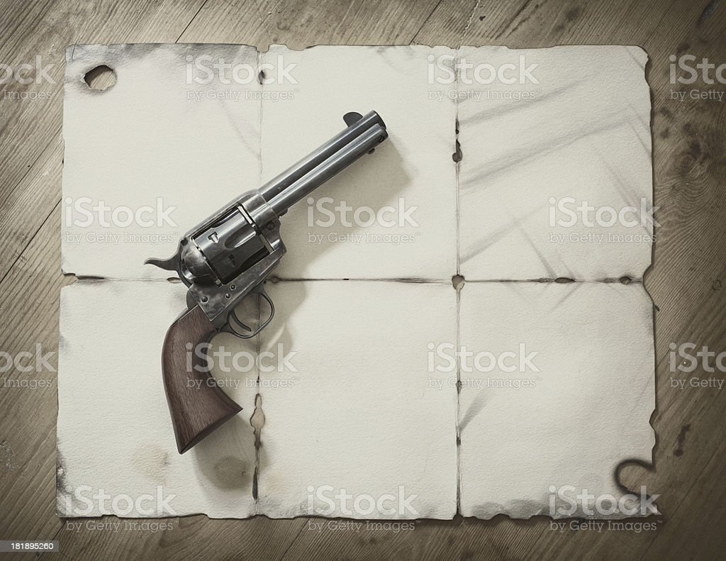 Revolver From The Wild West stock photo