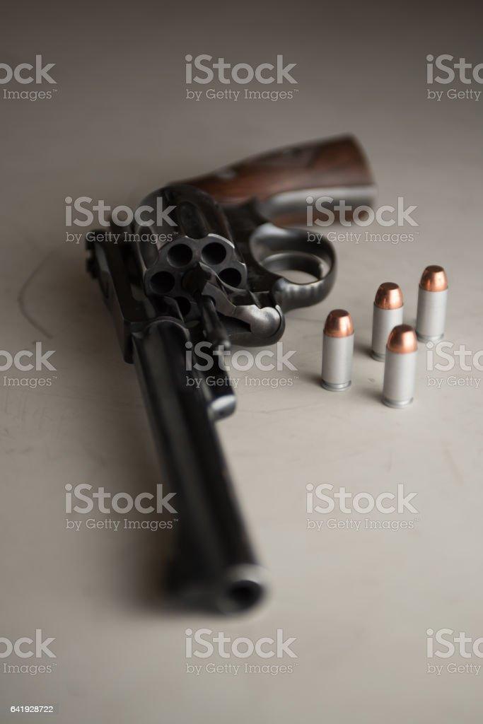 Western revolver, six shooter, handgun, bullets, ammunition