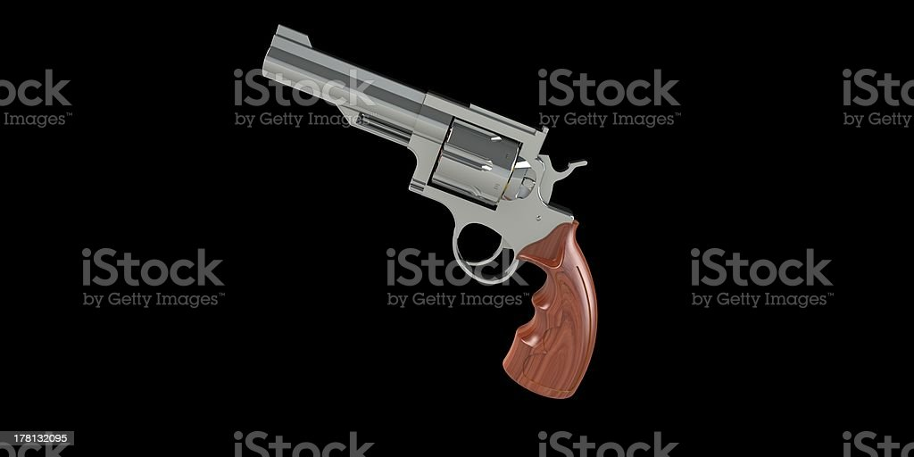 revolver with ammunition and bullets isolated stock photo