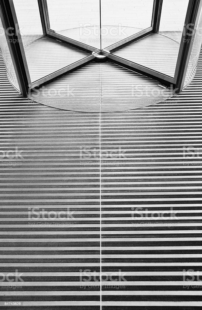 Revolving door and floor royalty-free stock photo