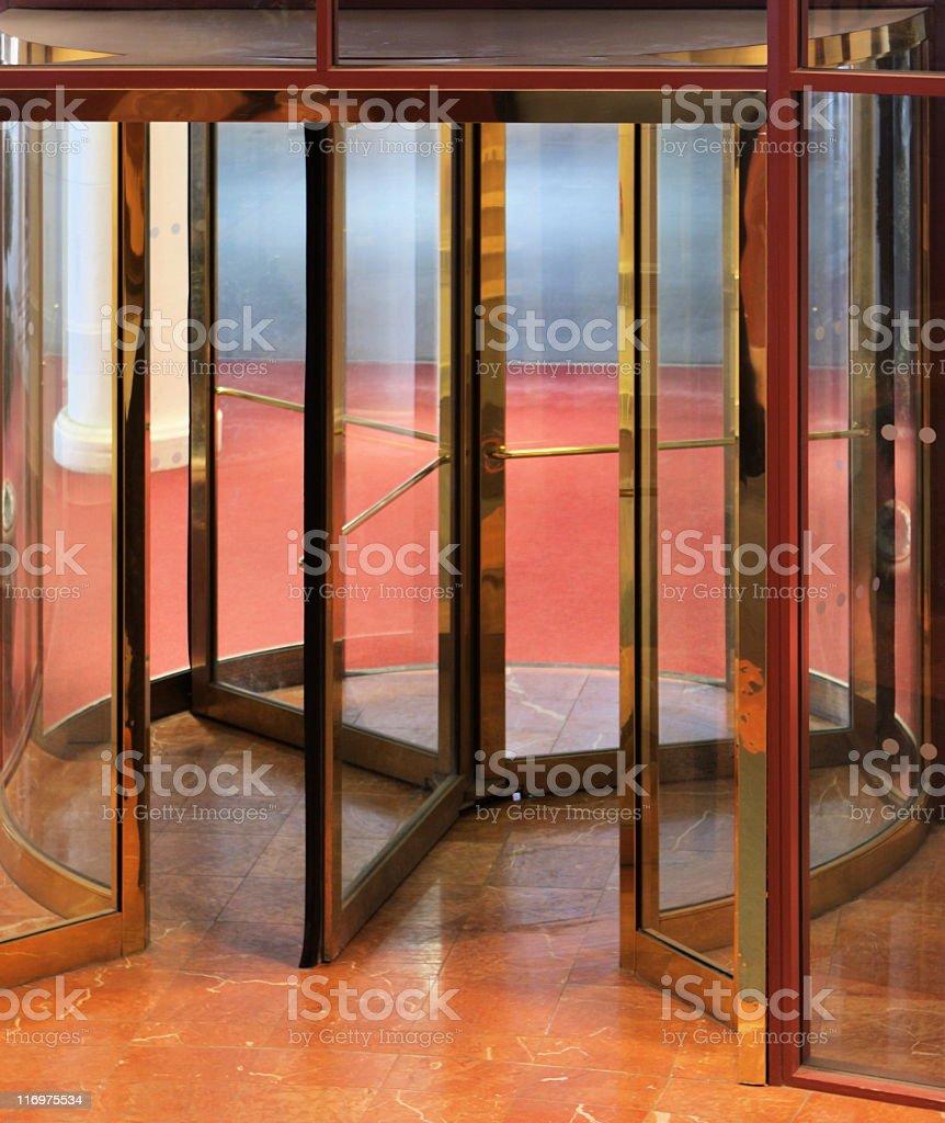 Revolving Door Hotel Entrance Lobby royalty-free stock photo
