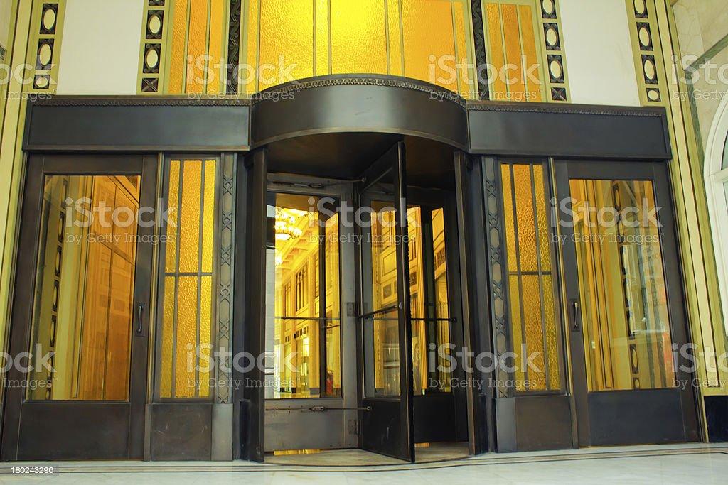 revolving door stock photo