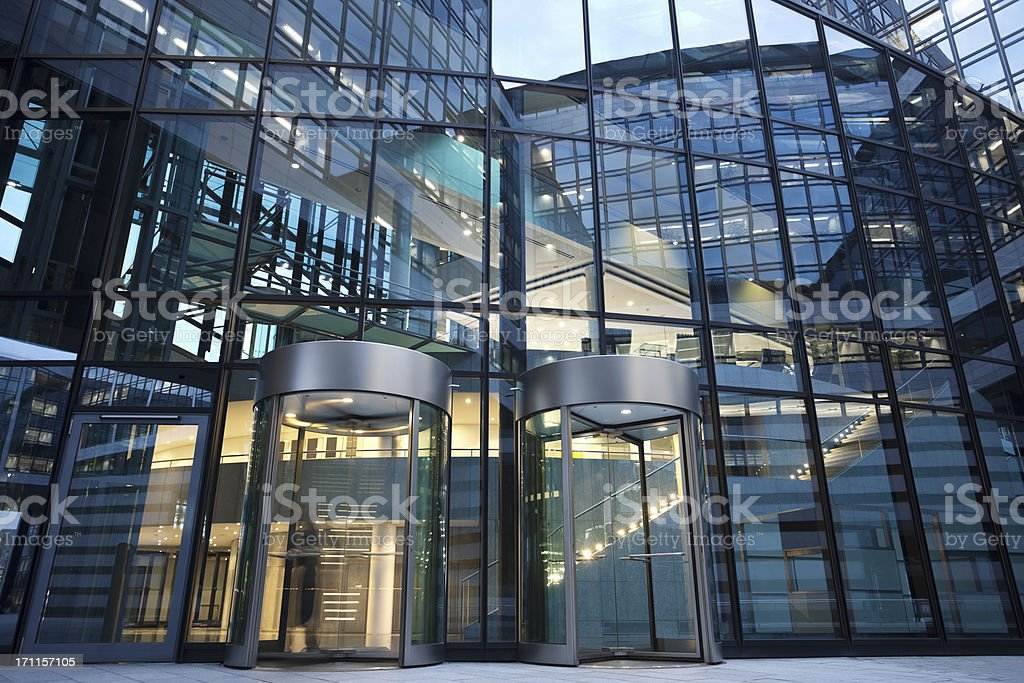 Revolving Doors to Office Building royalty-free stock photo