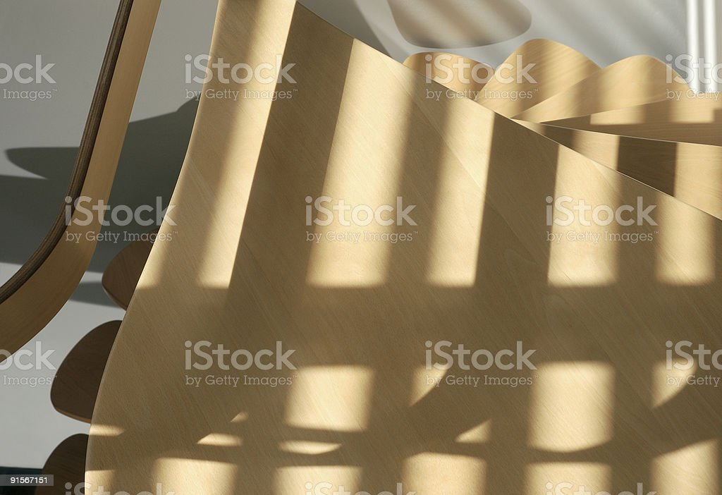 Revolving stairs from above. royalty-free stock photo