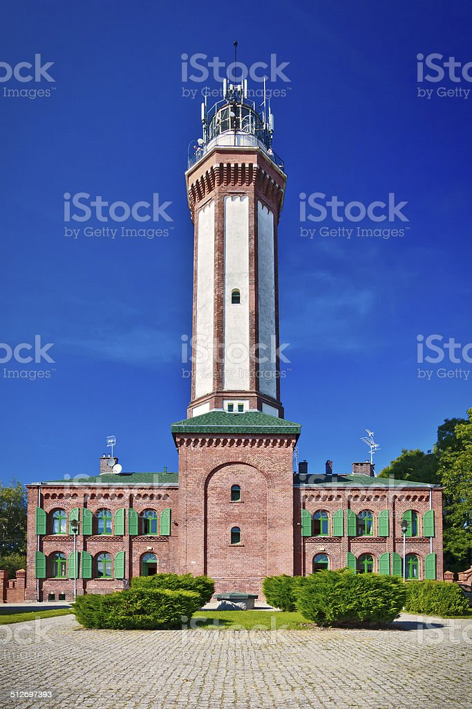 Rewal Lighthouse, Poland stock photo