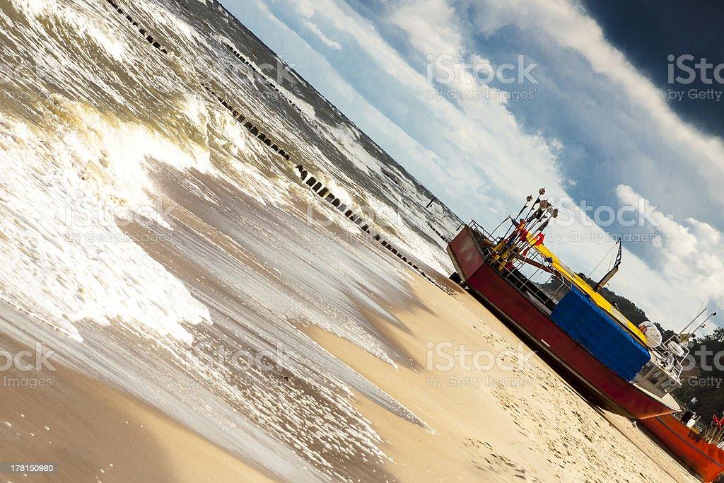 Rewal, Poland - Baltic sea. stock photo