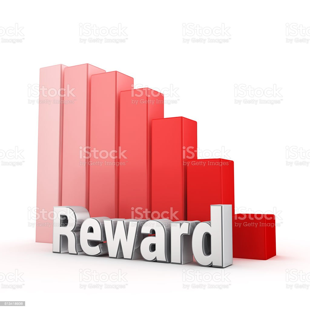 Reward is down stock photo