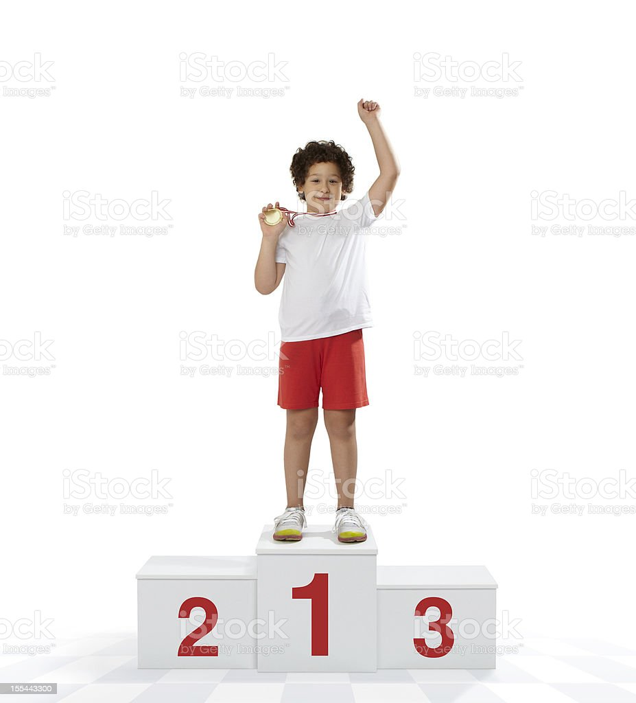 Rewarding of the winner stock photo