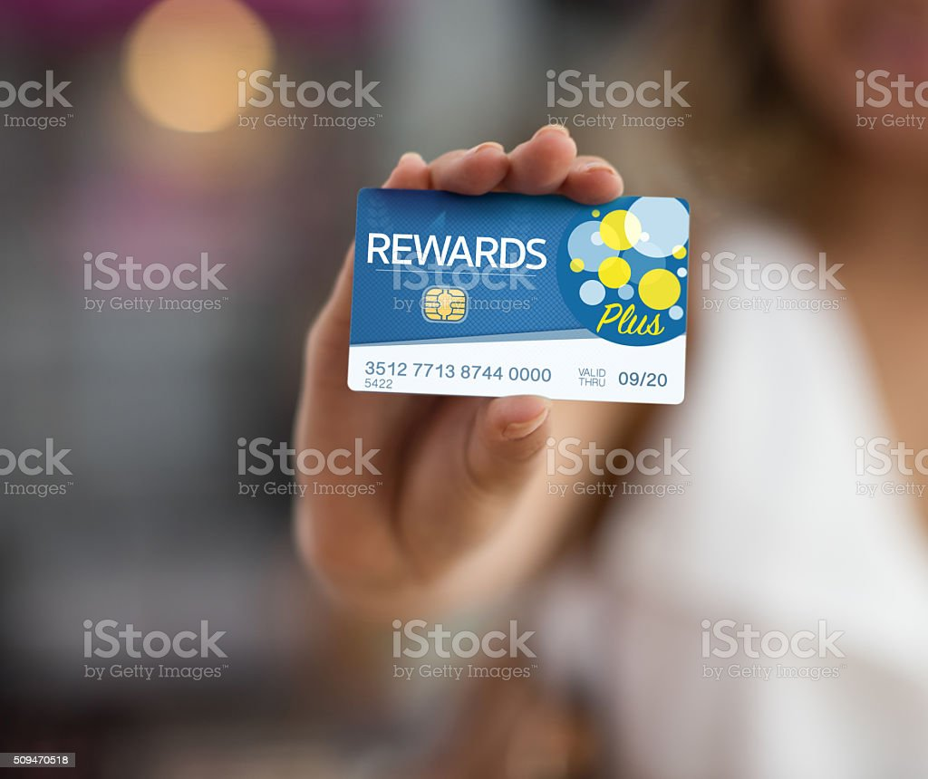 Rewards card stock photo