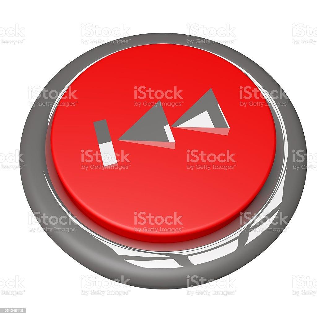 Rewind button stock photo
