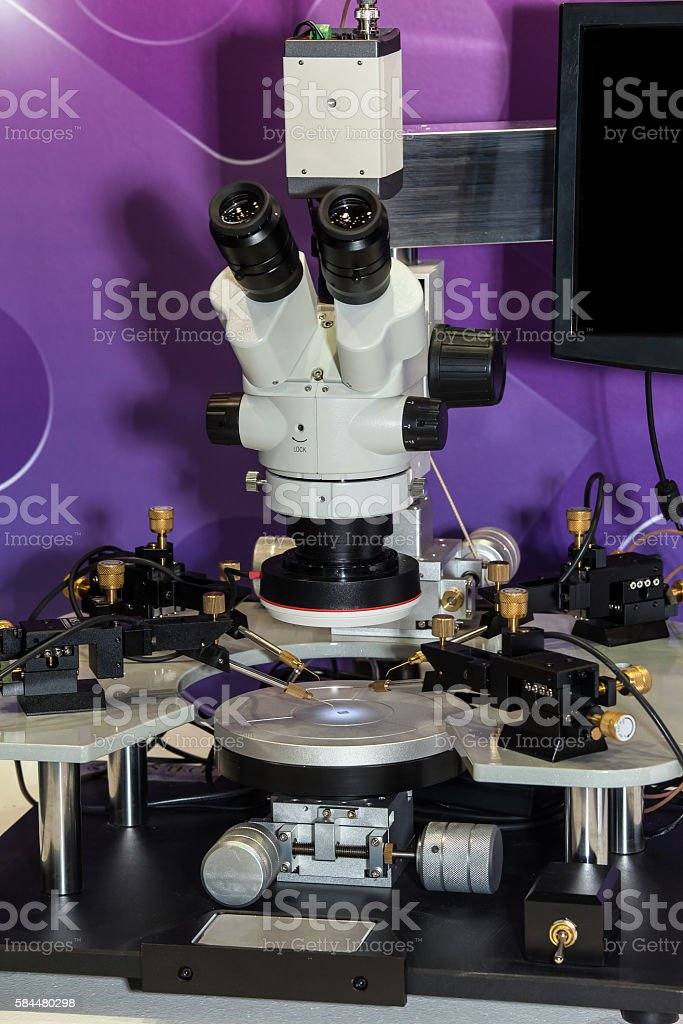 Rework station for all types of SMD components stock photo