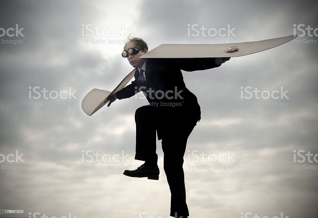 ReWorked Flying Man royalty-free stock photo