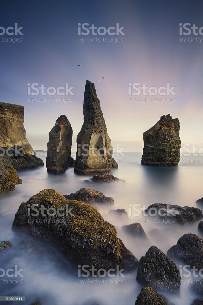 Reykjanes coastline in Iceland stock photo