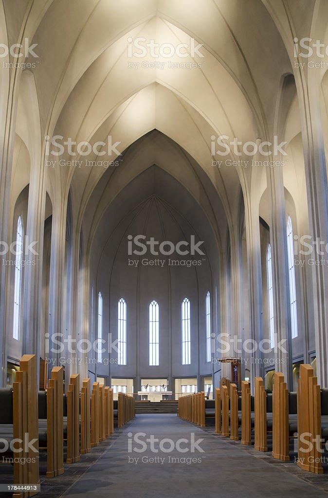 Reykjavik Cathedral royalty-free stock photo