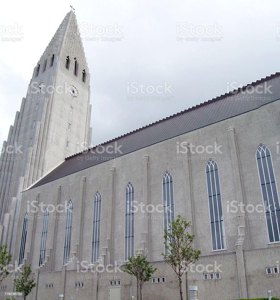 Reykjavik Church royalty-free stock photo