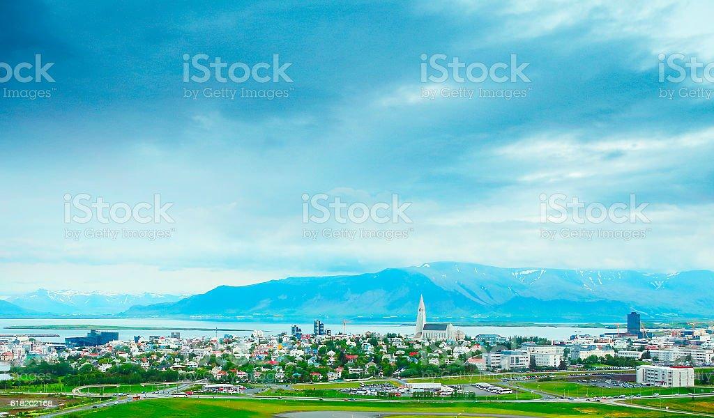 Reykjavik city stock photo