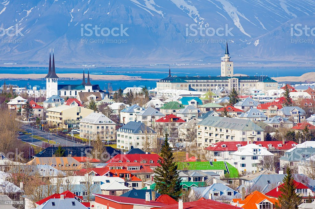 Reykjavik cityscape, Iceland, Europe stock photo
