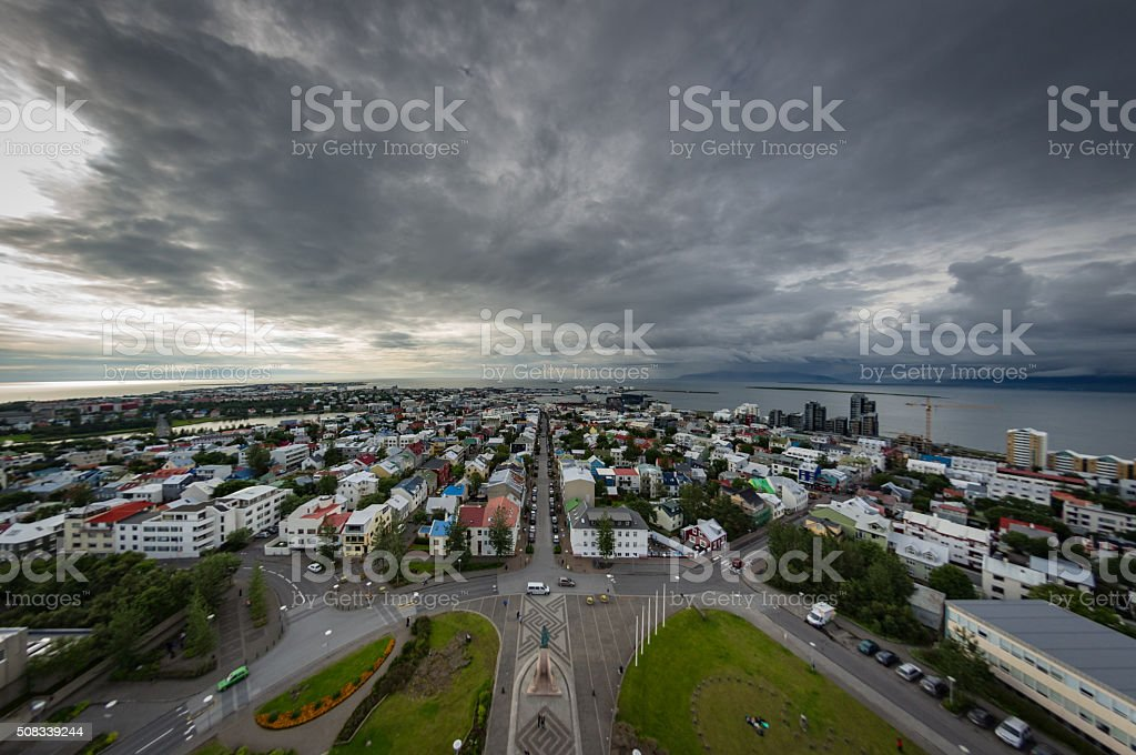 Reykjavik cityscape stock photo