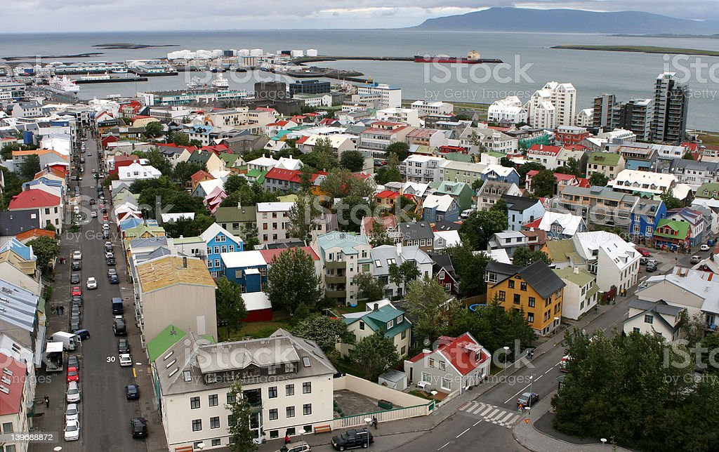 Reykjavik from the air 04 royalty-free stock photo