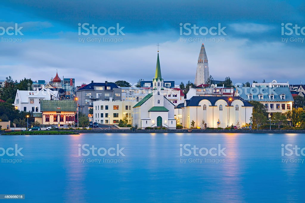 Reykjavik, Iceland. stock photo