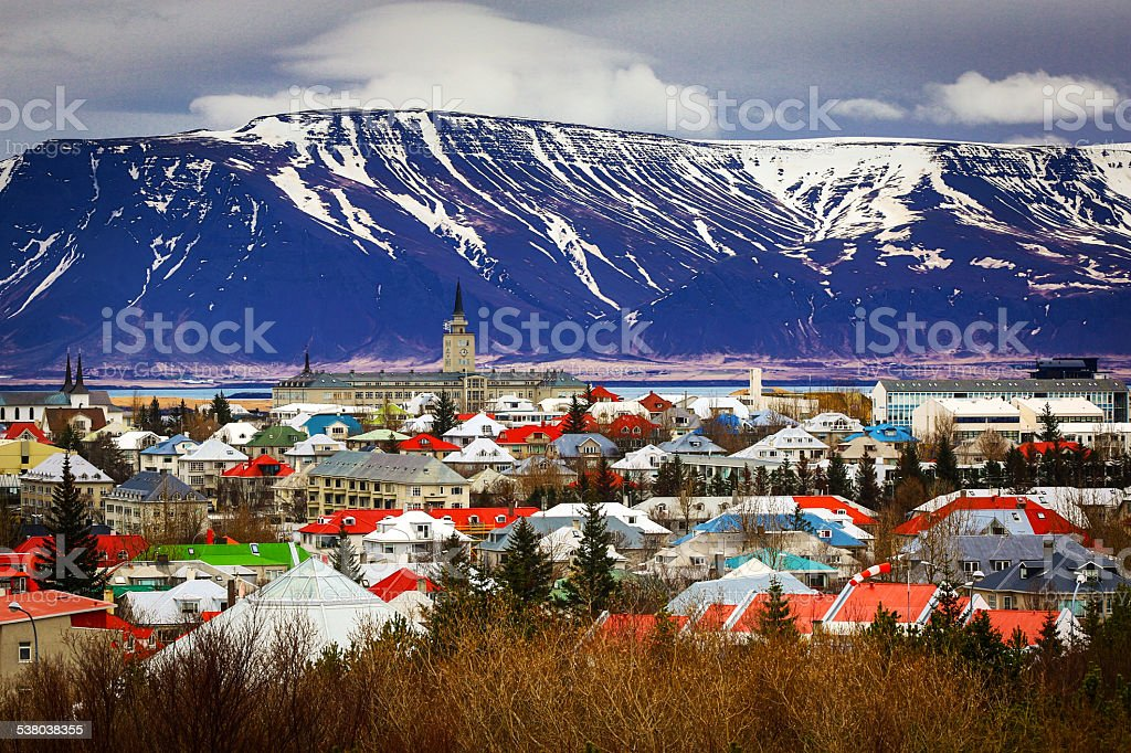 Reykjavik, Iceland's Capital City stock photo