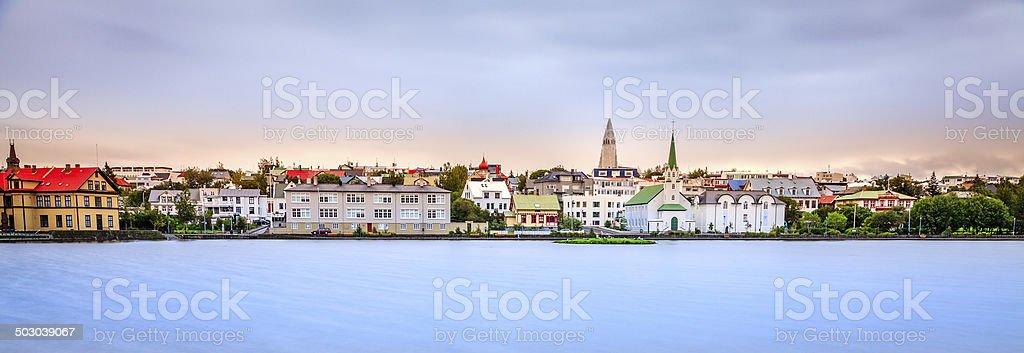 Reykjavik skyline stock photo