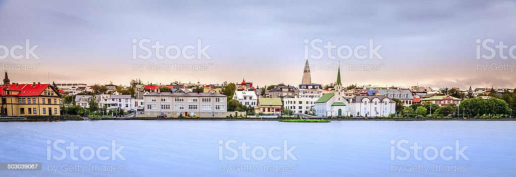 Reykjavik skyline stock photo