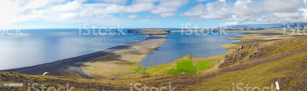 Reynisfjara and Dyrhólaey stock photo