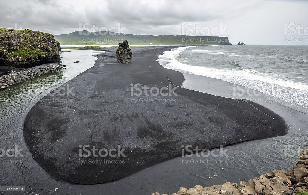 Reynisfjara beach, Iceland royalty-free stock photo