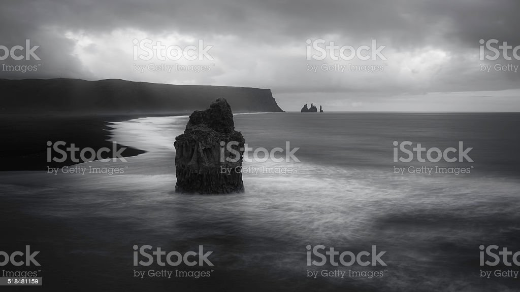 Reynisfjara - south coast of Iceland stock photo