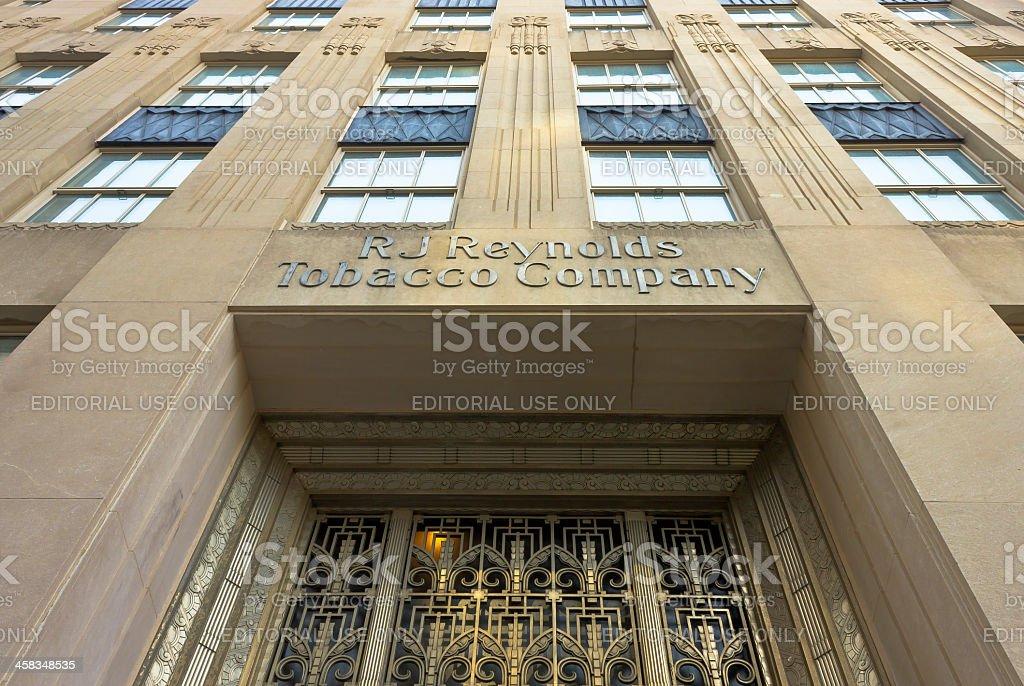 Reynolds Building in Winston-Salem, NC royalty-free stock photo