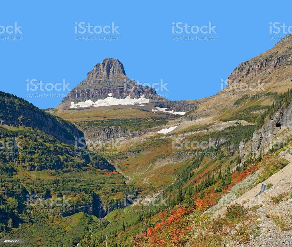 Reynolds Mountain, Glacier National Park stock photo